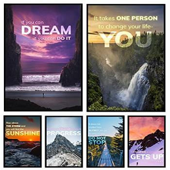 6 Inspirational Posters for Motivational Wall Art, Home Gym