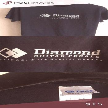 Diamond Guitar Pedals T-Shirt It's all there. Clean, no stains, never worn. Size Large. Diamond Gui