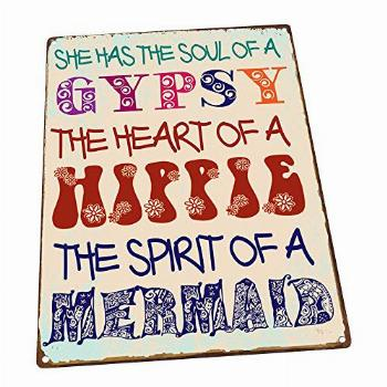 Homebody Accents Gypsy Soul Metal Sign, Boho, Yoga, Positive