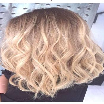 Perfect honey blonde balayage hair color Full head of Champagne and soft blonde  woven highlights r