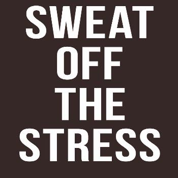'Sweat Off The Stress' T-Shirt by lexipej Nothing cures stress like a good workout. It also helps w